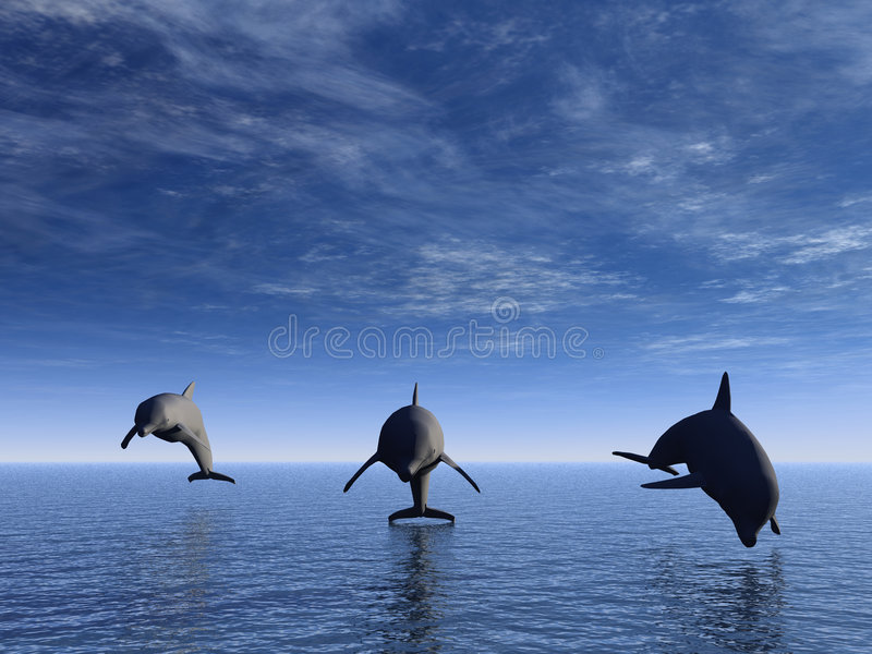 delfinframdel vektor illustrationer