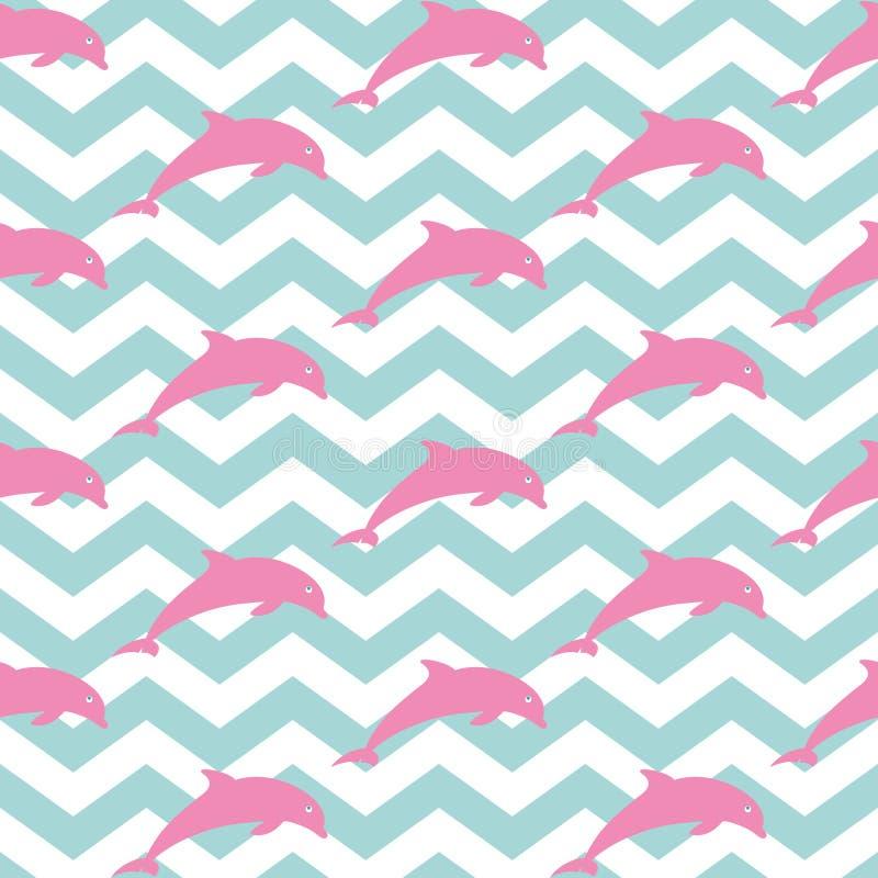 Delfini di salto royalty illustrazione gratis