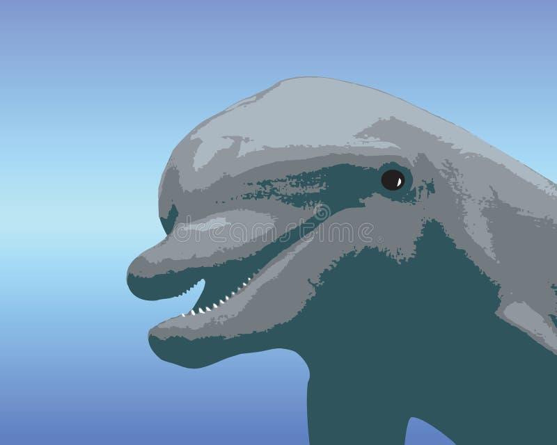 Delfino del fumetto illustrazione vettoriale