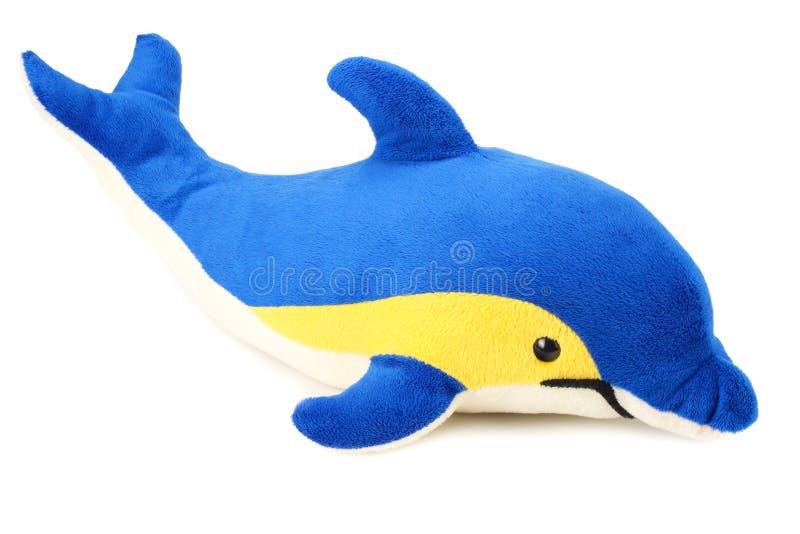 delfino del giocattolo isolato su un fondo bianco fotografia stock