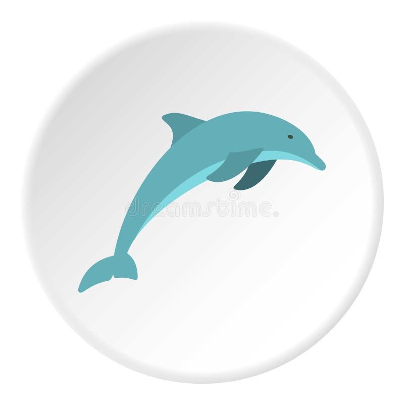 Delfinsymbolscirkel stock illustrationer