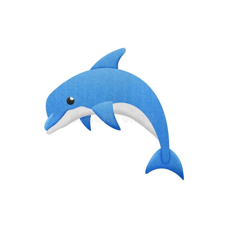 Delfintecknade filmen är fisken i undervattens- till havet vektor illustrationer