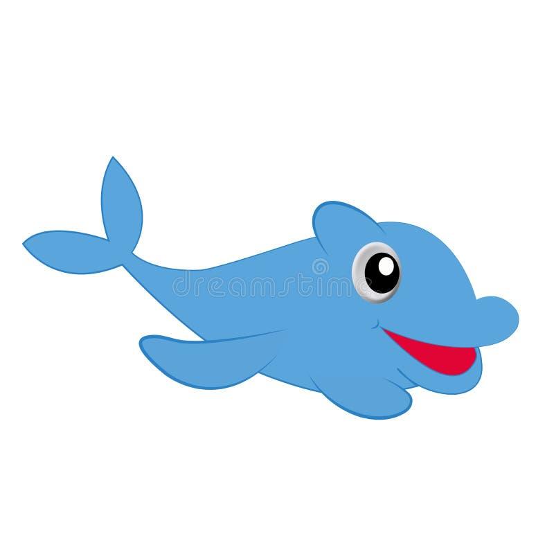 Delfinu błękit na białym tle zdjęcia royalty free