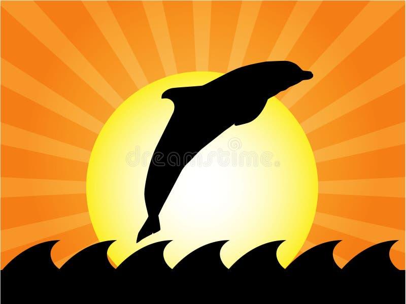 delfinu doskakiwanie ilustracja wektor