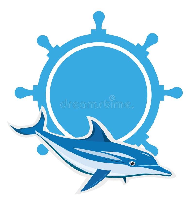 Delfinu logo royalty ilustracja