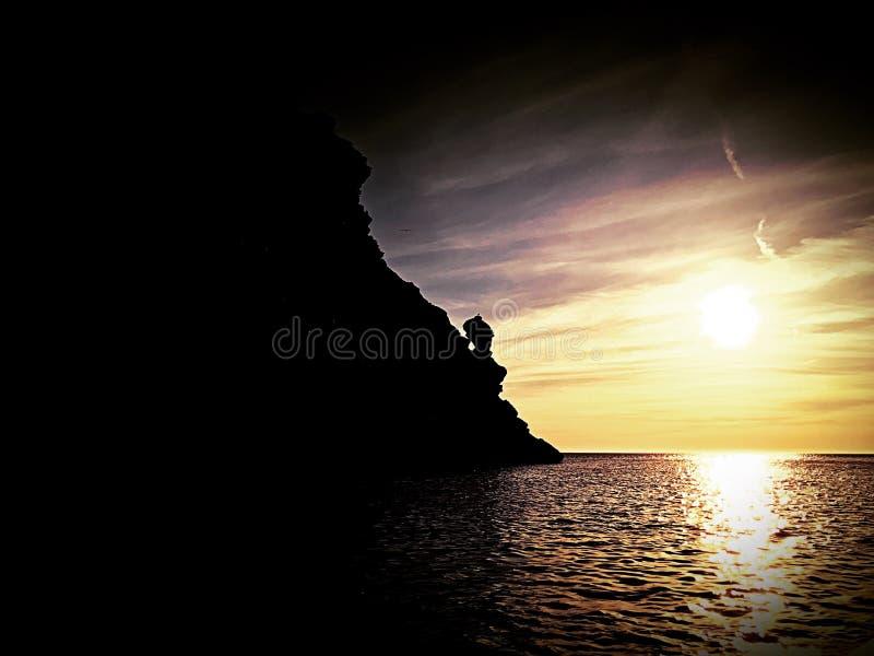 Delfinu punkt Ibiza obraz stock