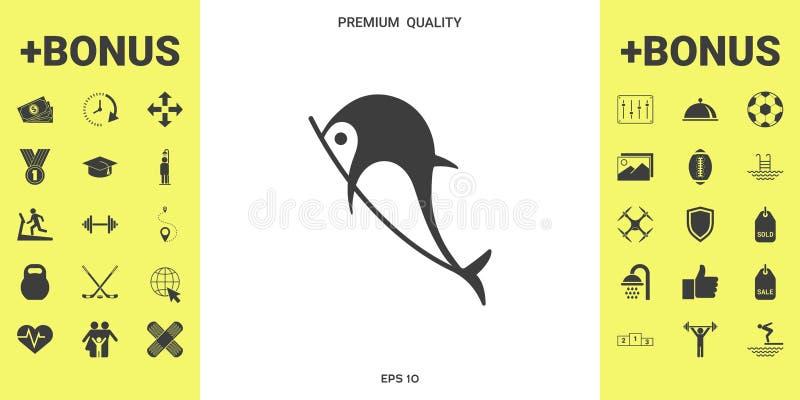 Delfinu symbolu ikona ilustracji