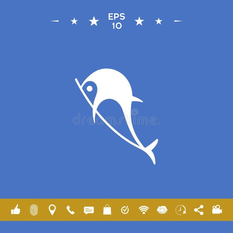 Delfinu symbolu ikona royalty ilustracja