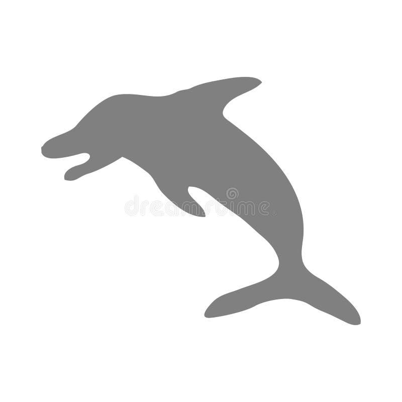 Delfinvektorsymbol royaltyfri illustrationer