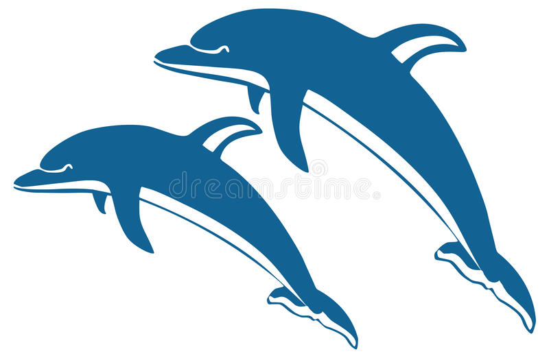 delfiny dwa royalty ilustracja