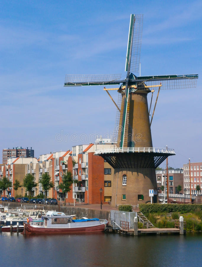 Delfshaven Windmill. View of Windmill @ Delfshaven in the Netherlands stock photography
