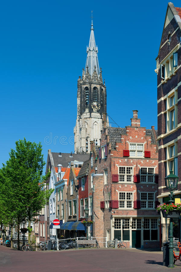Delft. View on Delft buildings. GPS information is in the file stock images