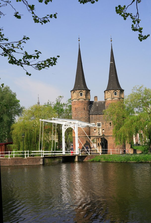 Delft. East Gate of Delft-Holland royalty free stock photo
