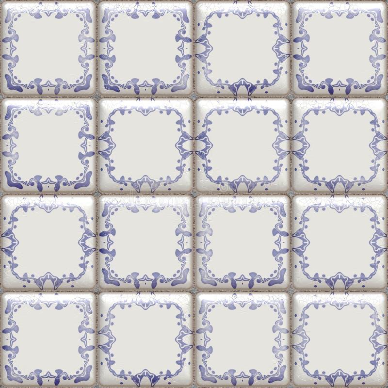 Delft betegelt naadloos vector illustratie