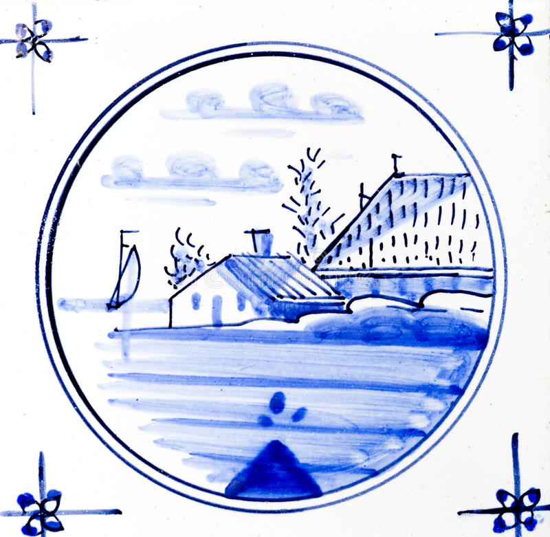 Delft Blue. Traditional authentic Delft Blue hand made ornamental earthenware royalty free stock image