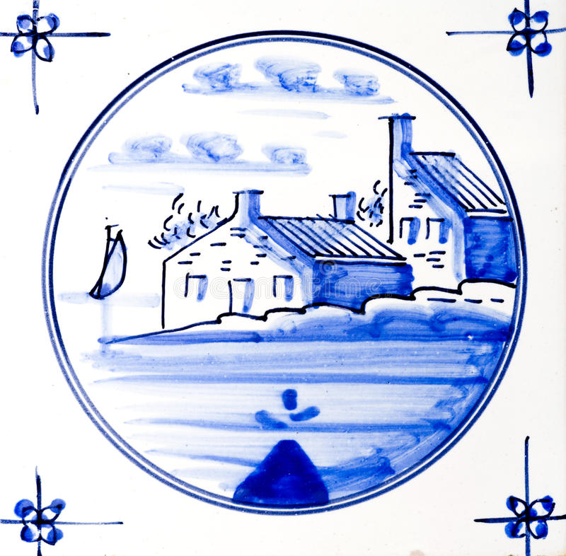 Delft Blue. Traditional authentic Delft Blue hand made ornamental earthenware royalty free stock photo