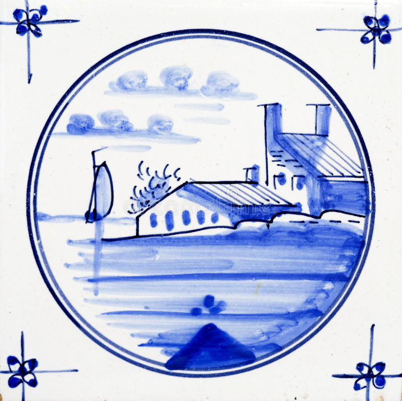 Delft Blue. Traditional authentic Delft Blue hand made ornamental earthenware stock photo