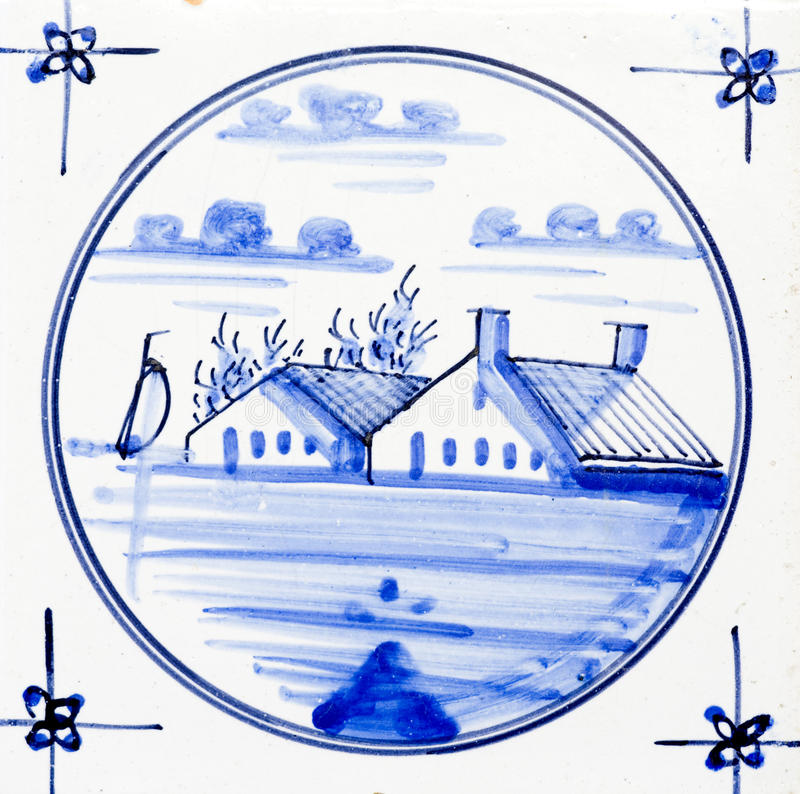 Delft Blue. Traditional authentic Delft Blue hand made ornamental earthenware stock images