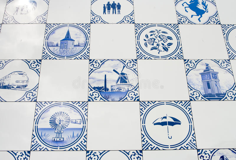 Delft blue tiles stock image