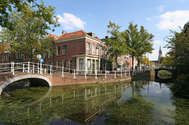 Delft Canal royalty free stock photography