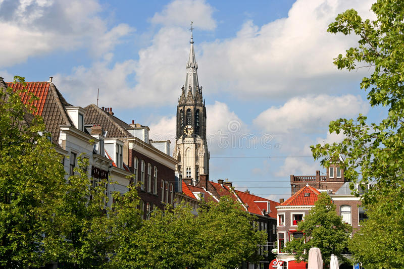 Download Delft Church Tower stock photo. Image of delft, city - 16720052