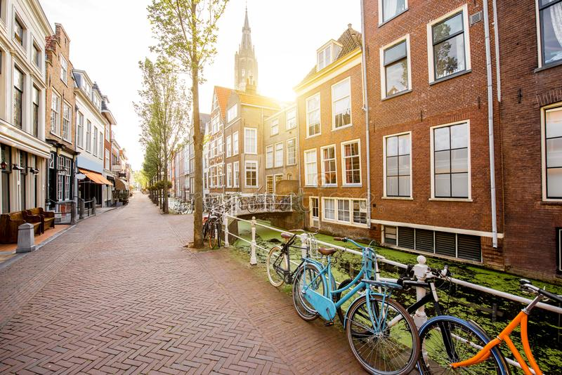 Delft city in Netherland stock photography