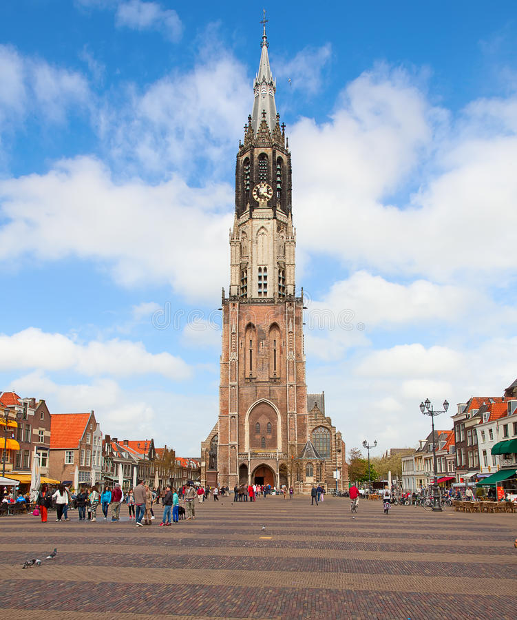 Delft. Famous new church of Delft, Netherlands stock photos