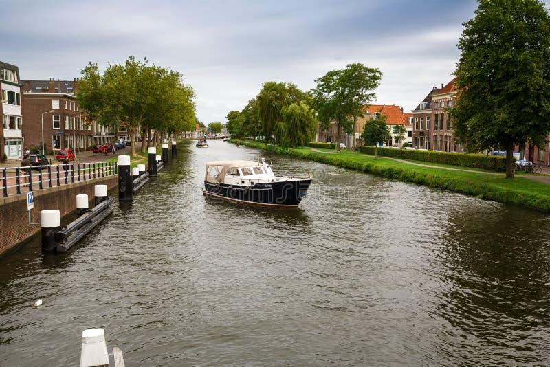 Delft kanałowy obrazy royalty free