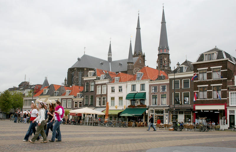 Delft,market square royalty free stock photography