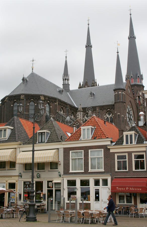 Delft,market square royalty free stock images