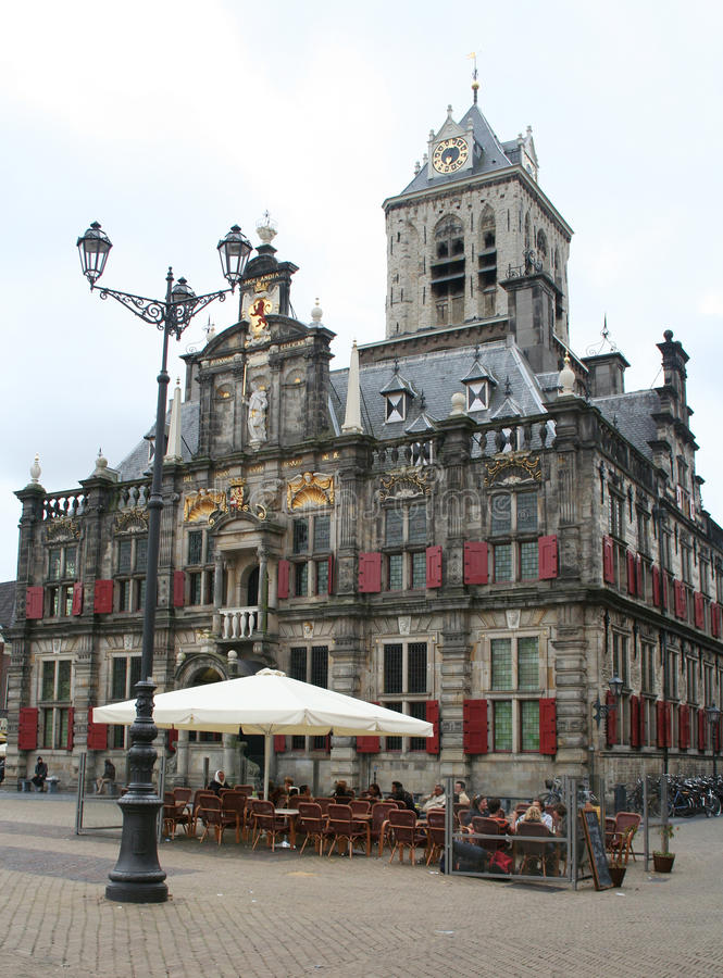 Delft,market square royalty free stock photos