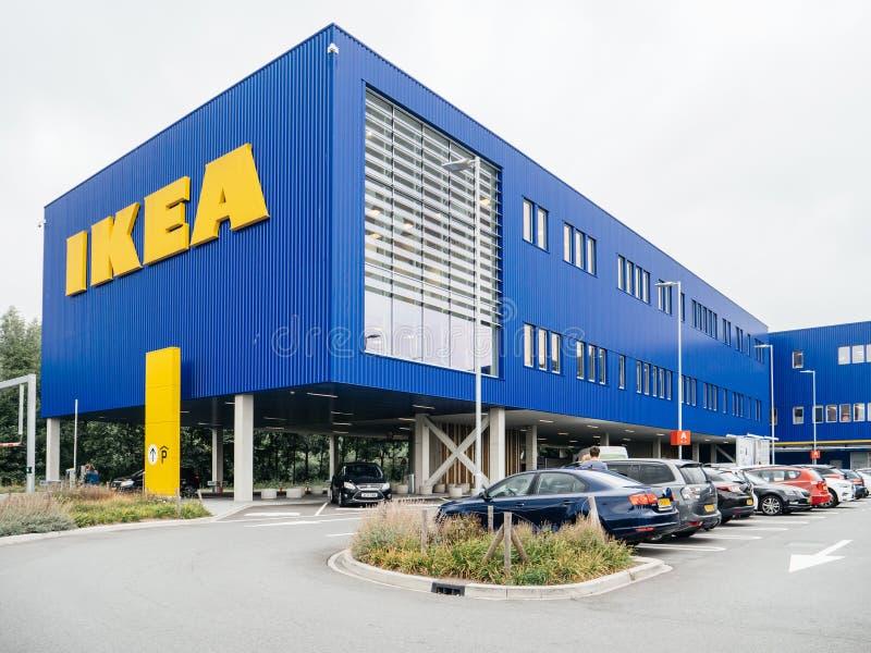 IKEA logotype on headquarter building in Netherlands royalty free stock photos