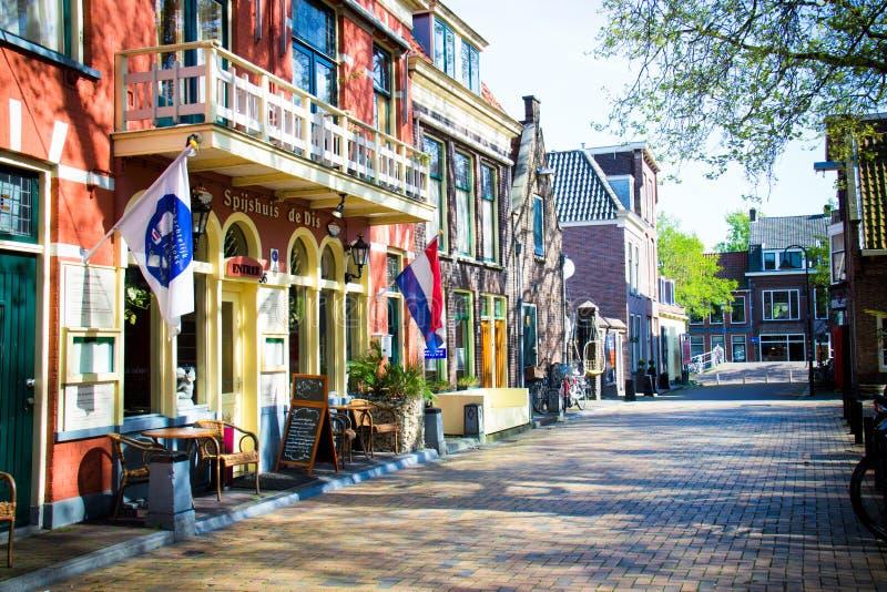 DELFT/NETHERLANDS - 16 avril 2014 : Scène de Beestenmarket photos libres de droits