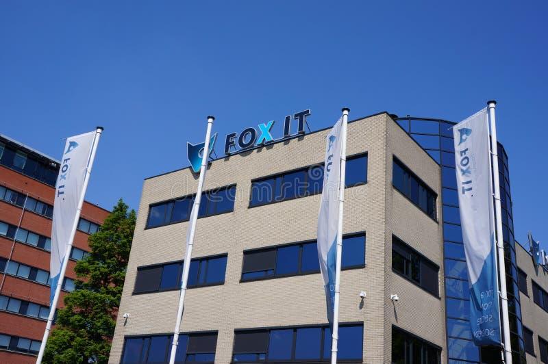 Building of Fox-IT company in Delft, the Netherlands. Delft, the Netherlands. May 2018. Fox IT, internet security company stock photos