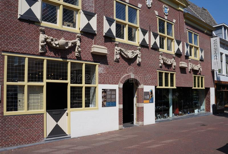 Vermeer Centrum in Delft, the Netherlands. Delft, the Netherlands. May 2018. The Vermeer Centrum in Delft, museum about the painter Johannes Vermeer stock photography