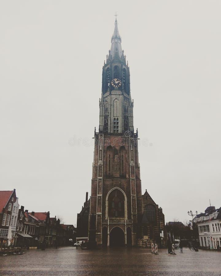 Delft-neue Kirche lizenzfreies stockbild