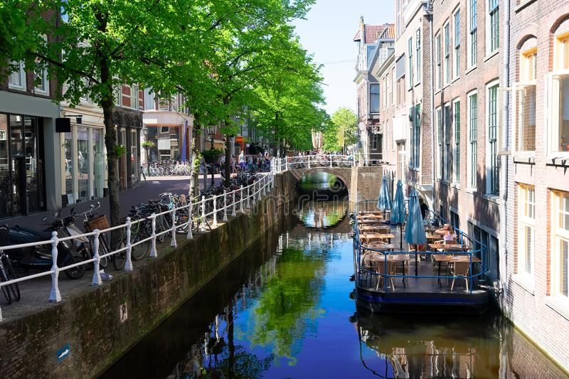 Delft old town in Holland royalty free stock photography