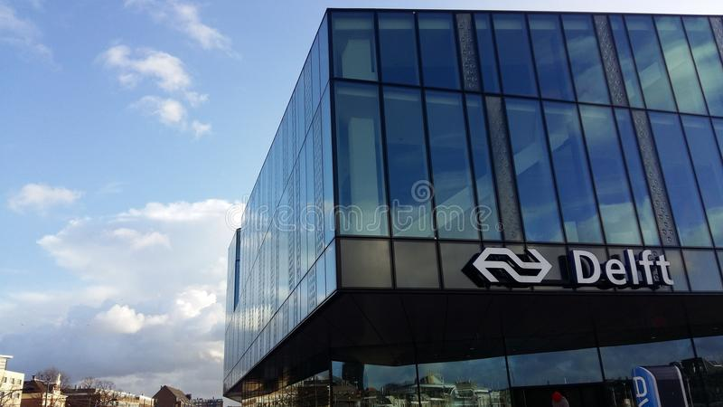 Delft-Station lizenzfreie stockfotos
