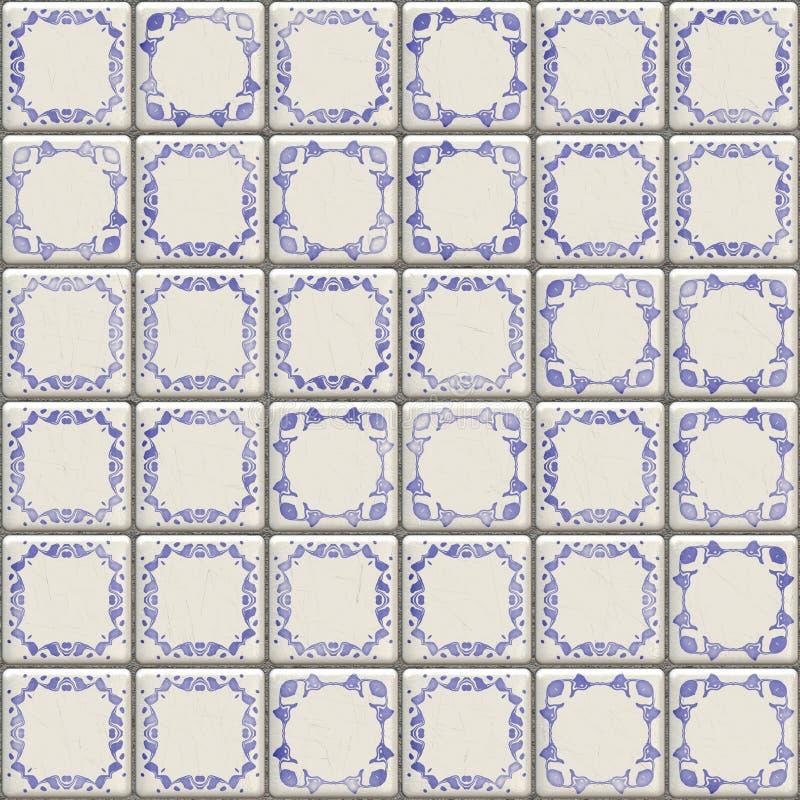 Delft tiles texture stock illustration