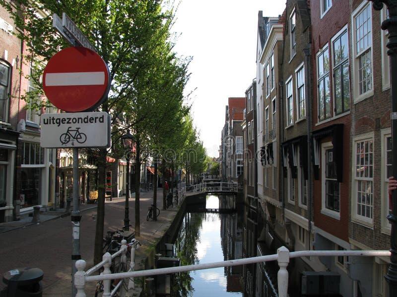 Delft van de binnenstad royalty-vrije stock foto