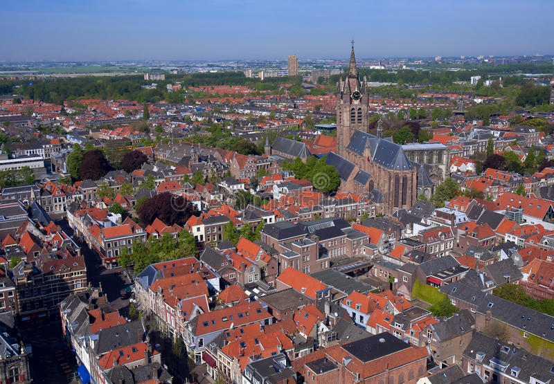 Delft - vue aérienne photo stock