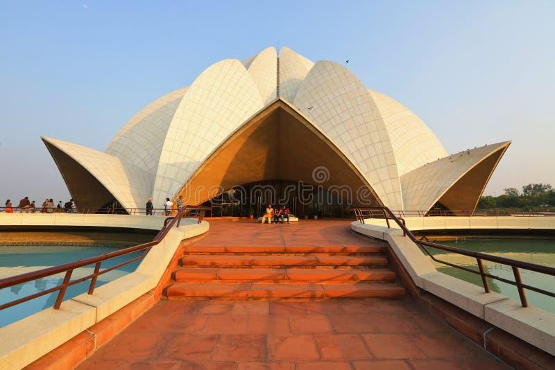 delhi świątynia lotosowa nowa obraz royalty free