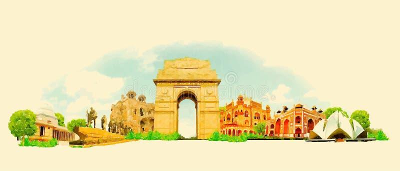 delhi illustration de vecteur