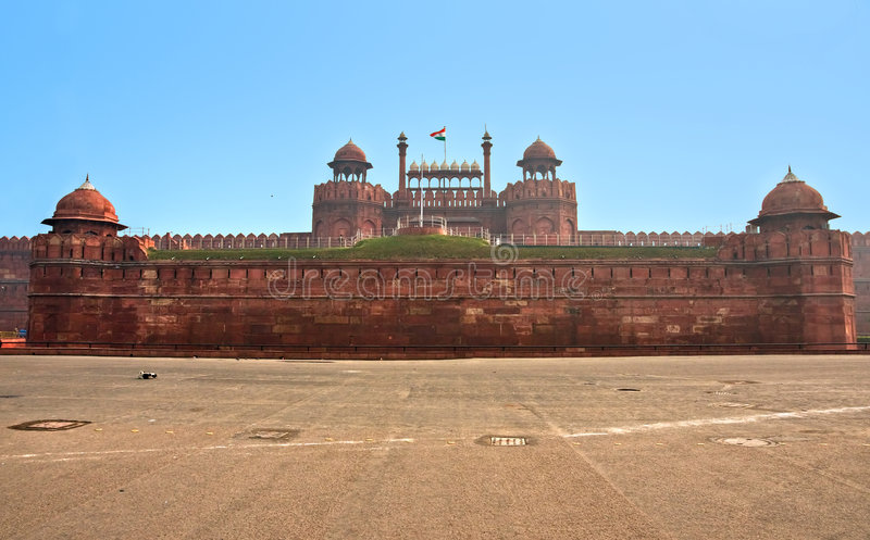 delhi fortindia gammal red royaltyfri fotografi
