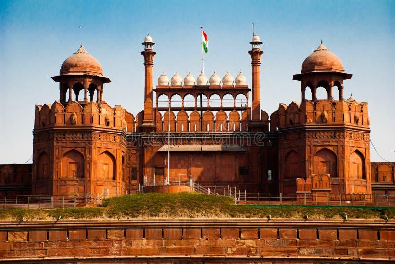 delhi fortindia red arkivbild