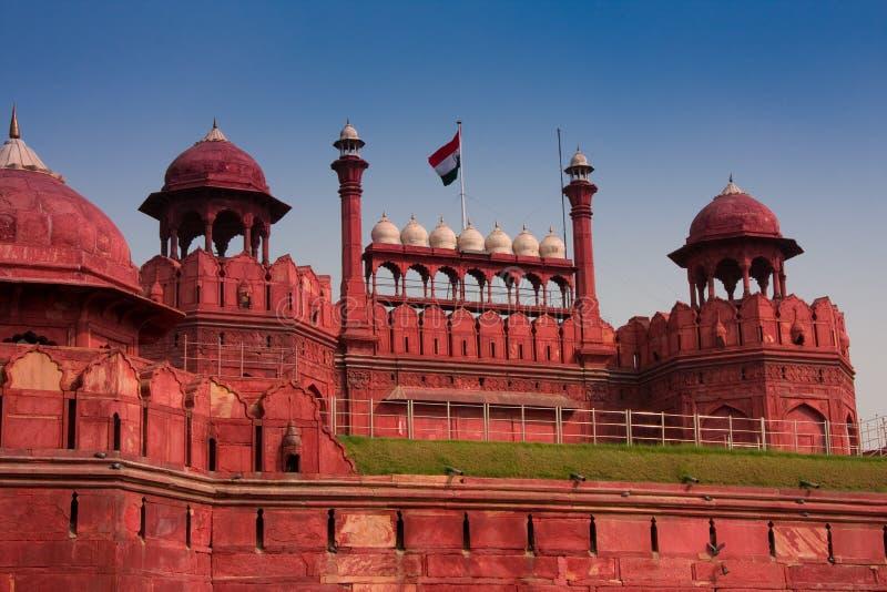 delhi fortu czerwień obrazy royalty free