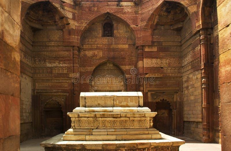 delhi iltumish ind qutab minar grobowca zdjęcie royalty free