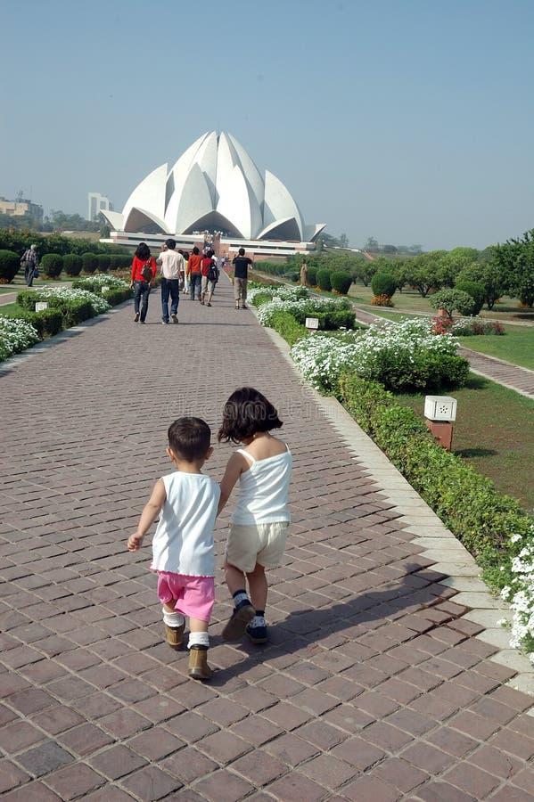 delhi ind lotosowa nowa świątynia zdjęcia stock