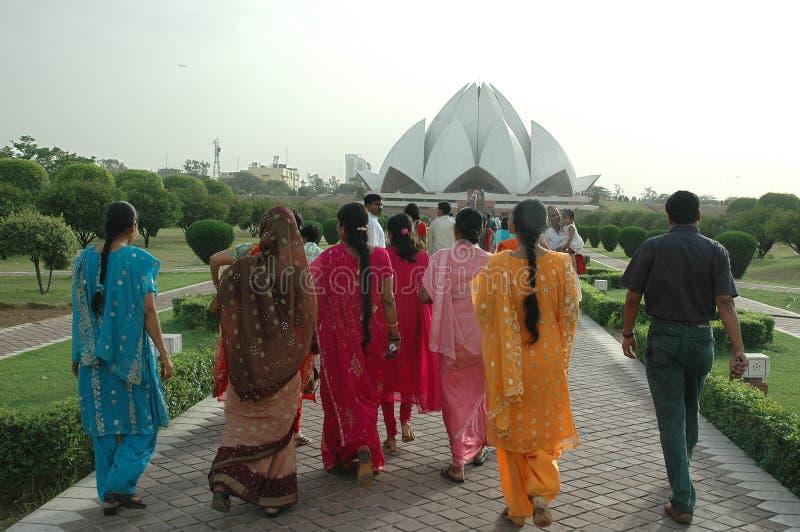 delhi ind lotosowa nowa świątynia obrazy stock