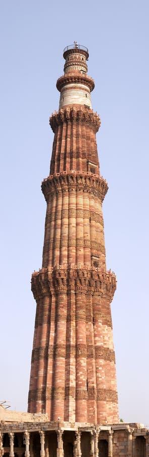 delhi ind minar minaretowy panoramy qutb zdjęcie stock
